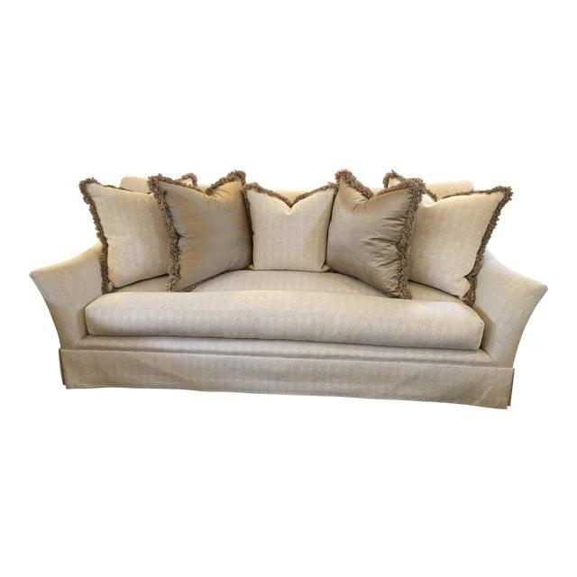 Marge Carson Sofa amp Five Pillows Chairish