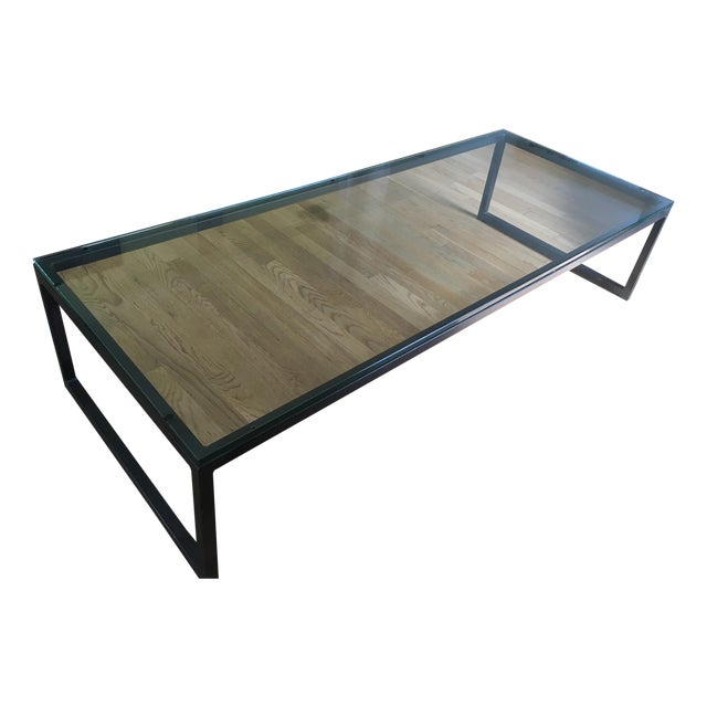 Room Board Industrial Glass Coffee Table Chairish