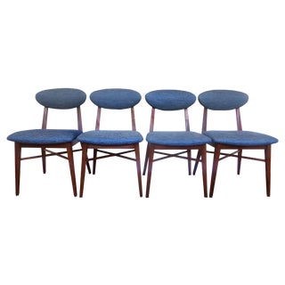 Mid Century Danish Style Dining Chairs - Set of 4
