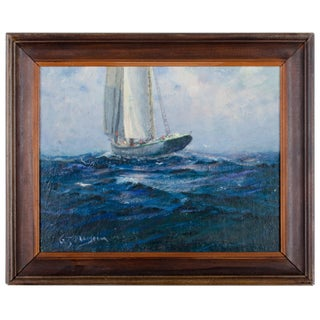 Gilbert Tucker Margeson 'High Seas' Ship Painting