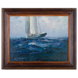 Gilbert Tucker Margeson 'High Seas' Ship Painting