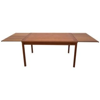 Mid Century Teak Draw Leaf Dining Table