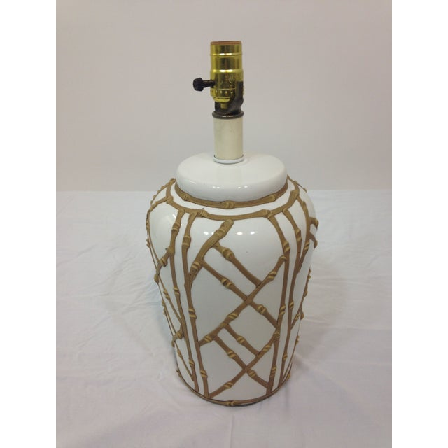 Image of Palm Springs Chic Faux Bamboo Lamp
