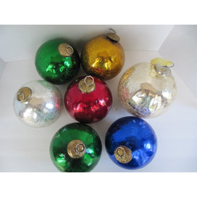 Colored Mercury Glass Ornaments - Set of 7 - Image 5 of 6