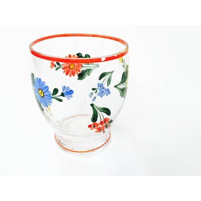Vintage 5-Piece Floral Czech Decanter Set - Image 6 of 6