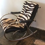 Image of Vintage Pony Hide & Chrome Rocking Chair
