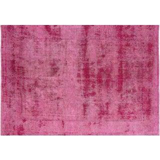 "Handmade Pink Overdyed Oriental Rug - 9' 4"" X 12' 4"""