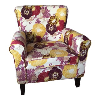 Floral-Printed Accent Chair