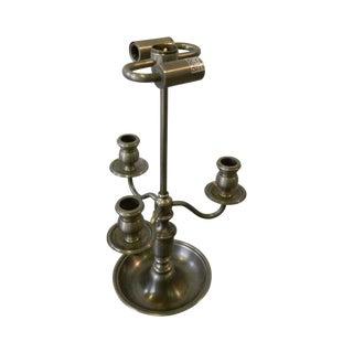 Tri Candle Holder Silver Desk Lamp