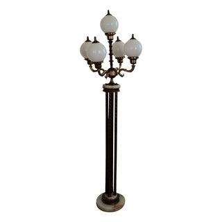 Mid-Century Saloon Bar Globe Floor Lamp