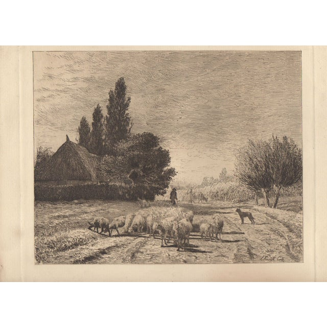 Joseph Foxcroft Cole Etching c. 1879 - Image 2 of 3