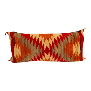Amazing Early Navajo Geometric Bolster Pillow