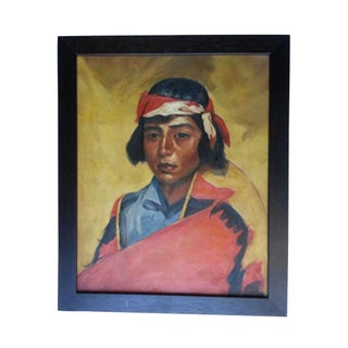 Native American Oil Painting