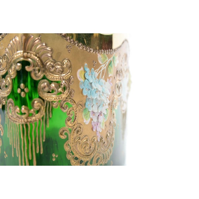 Moser Bohemian Emerald Green Glass Centerpiece - Image 7 of 9