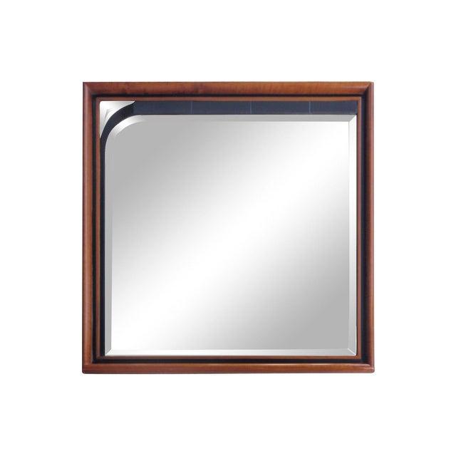 masterly for roche bobois italian walnut mirror chairish. Black Bedroom Furniture Sets. Home Design Ideas