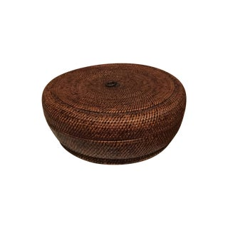 Lidded Chinese Sewing Basket