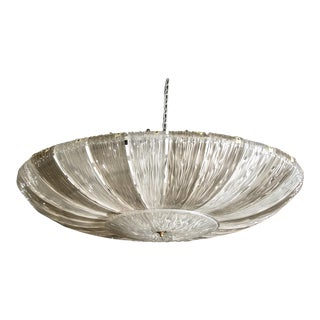 Monumental Barovier & Toso Textured Two-Tone Murano Glass Fixture