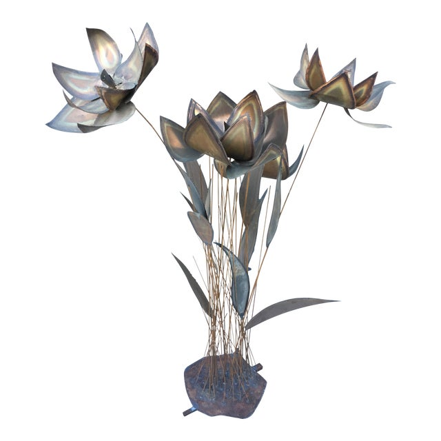 Floral Torch Cut Sculpture - Image 1 of 8