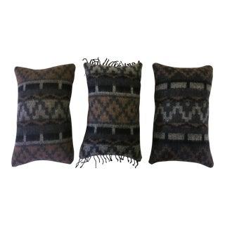 Wool Aztec Pillows - Set of 3