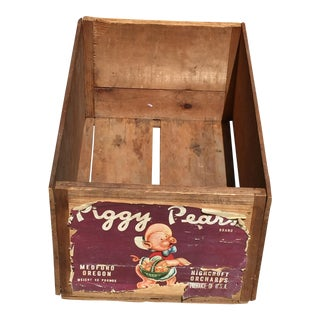 Vintage Piggy Pears Wood Crate Medford Oregon