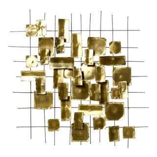 1970's Brass Wall Sculpture