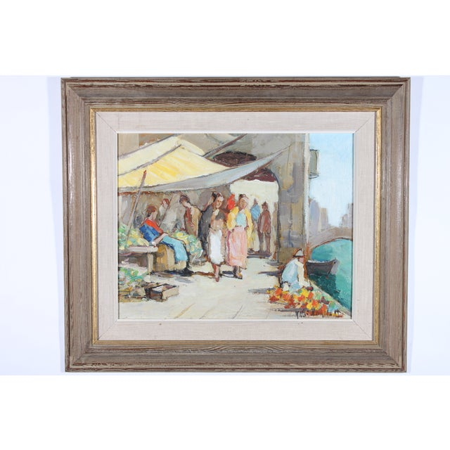 "Knut Norrman ""Venice Impressionist"" Oil Painting - Image 2 of 3"