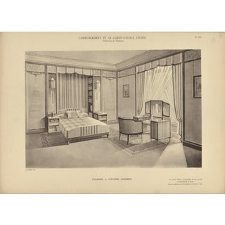 French Art Deco Interior-Bedroom Print