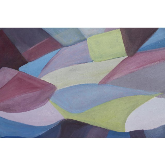 Vintage Cubist Painting of a Woman - Image 5 of 10