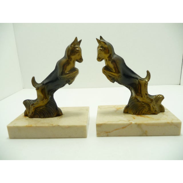 Image of Baby Goats French Art Deco Bookends - A Pair
