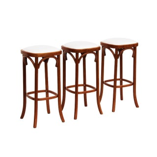 Rattan Bar Stools - Set of 3