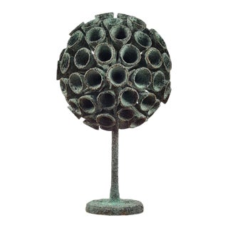 Organic Bronze Blooming Plant Form Sculpture by Douglas Ihlenfeld