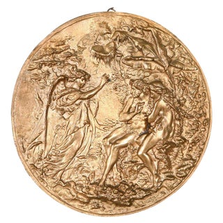 Bronze Plaque with Adam & Eve