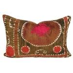 Image of Brown Vintage Suzani Namangan Pillow