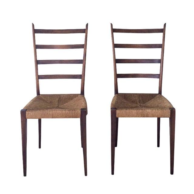 Mid century modern italian dining chairs s 4 chairish for Modern dining chairs ireland
