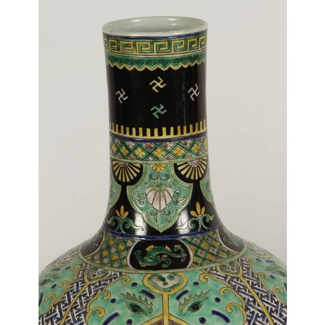 Pair of Famile Verte Art Deco Vases - Image 3 of 10