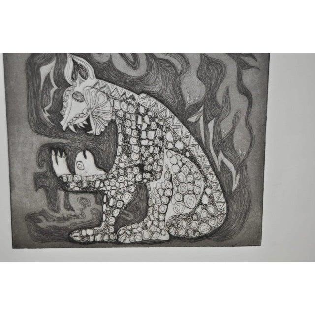 Arnold Grossman Symbolic Shamanistic Etching - Image 5 of 6