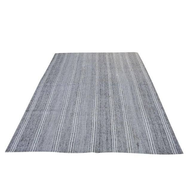 "Image of Turkish Vintage Flat-Weave Rug - 7'3"" x 10'"