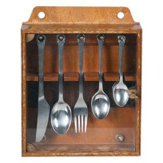 Mid-Century Danish Silverware Cabinet