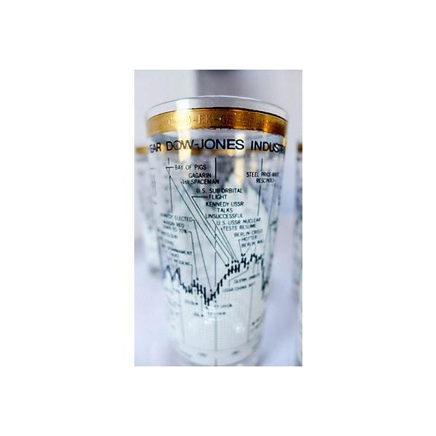 Neiman Marcus Stock Market Glasses - Set of 6 - Image 4 of 6