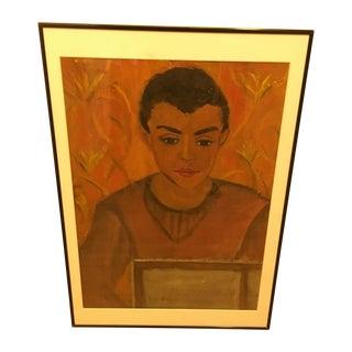 Mid-Century Elia Braca Painting of an Artist