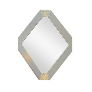 Mother of Pearl Accented Hexagonal Mirror