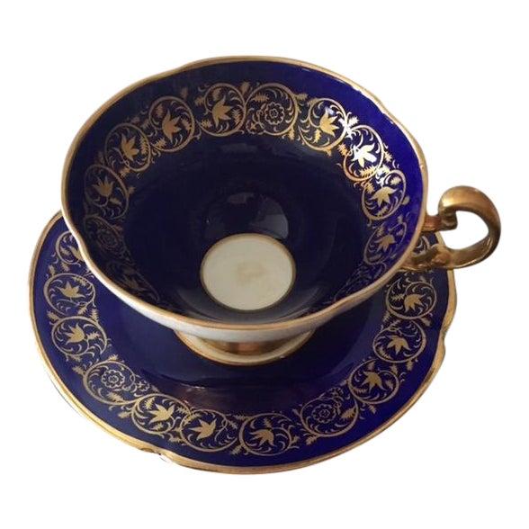 Image of Vintage Royal Bone China Tea Cup and Saucer