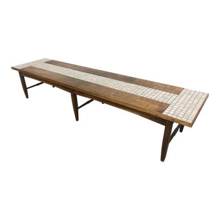 Lane Tile & Walnut Coffee Table