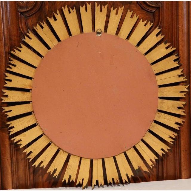 Mid-Century French Sunburst Mirror with Gilt Finish & Convex Mirror - Image 7 of 7