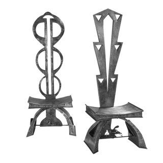 Augosto Dionisi Fabbro Steel Chairs - a Pair
