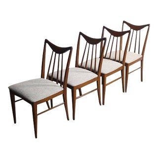 Mid-Century Gray Dining Chairs - Set of 4