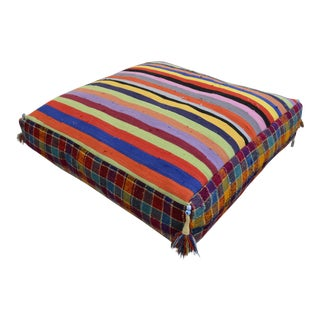 Turkish Hand Woven Kilim Floor Cushion