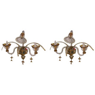 Venetian Wall Lights - A Pair