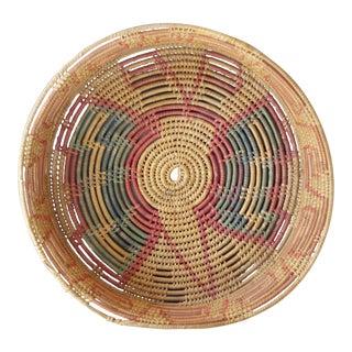 Vintage Woven Coil Basket Bowl
