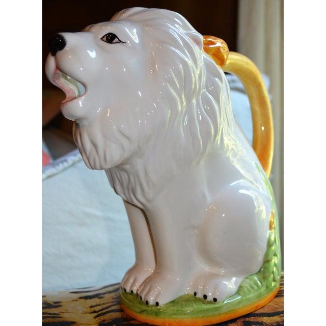 Image of Vintage Italian Ceramic Lion PItcher